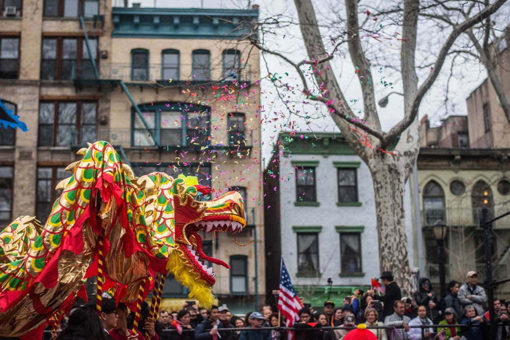 Photograph of Lunar New Year Parade in NYC.