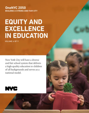 Cover image for OneNYC: Equity and Excellence in Education Report - 7