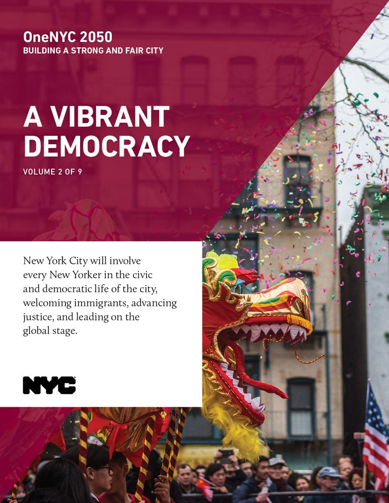 Cover image for OneNYC: A Vibrant Democracy Report